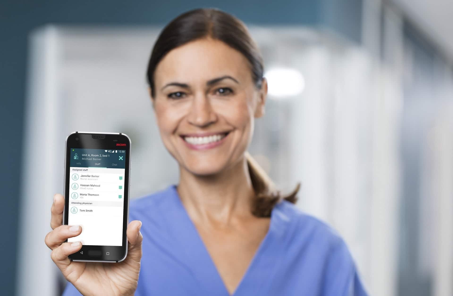 Klinisches Smartphone Ascom Myco 3